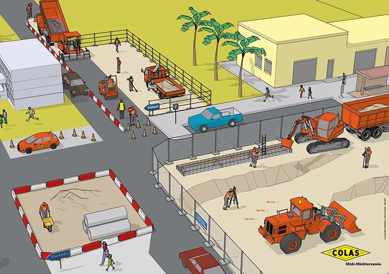 Illustration 3D - Direct Graphic - scène de ville - city scene