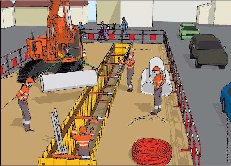 Illustration 3D chantier colas - Direct Graphic