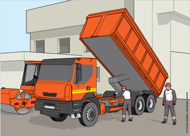 Illustration 3D camion colas - Direct Graphic