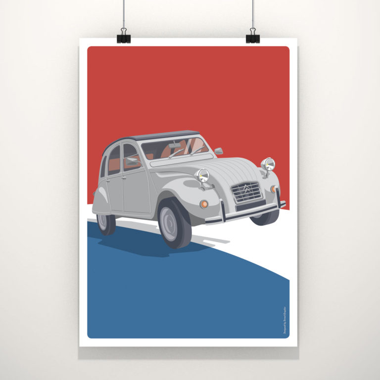 Illustration vectoriel 2 cv grise