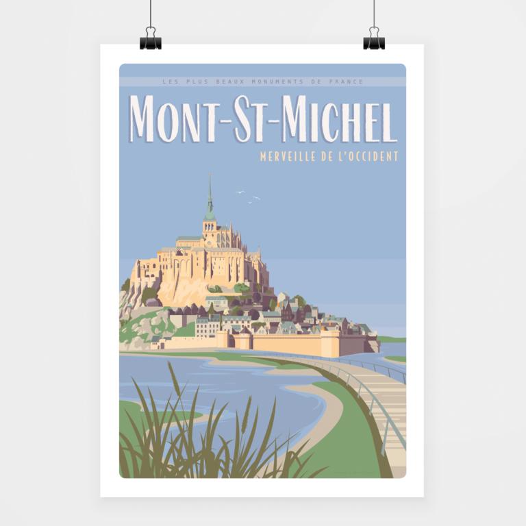 Affiche mont-st-michel