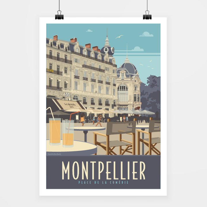 Poster Montpellier comédie